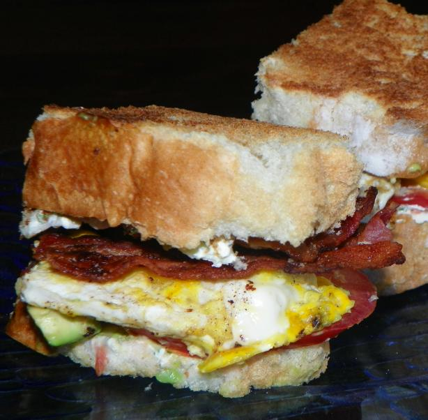 Bacon, Egg & Avocado Sandwich (Paula Deen). Photo by Baby Kato