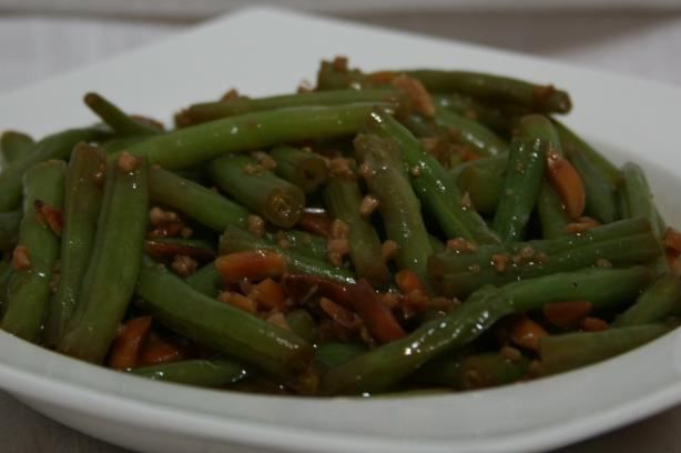 Green Beans With Garlic Butter and Almonds. Photo by Texas Aggie Mom