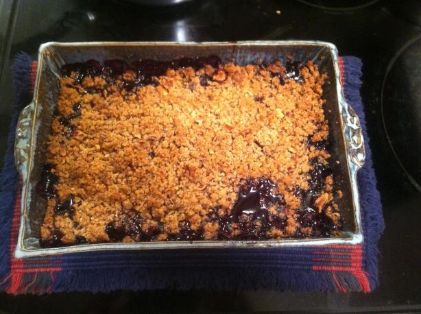 Blueberry Hazelnut Crisp. Photo by BarbryT