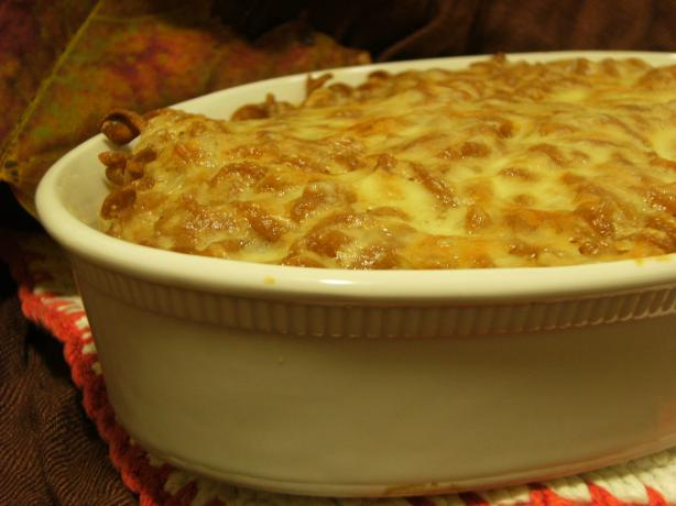 Lower Fat Baked Mac and Cheese. Photo by Lalaloula