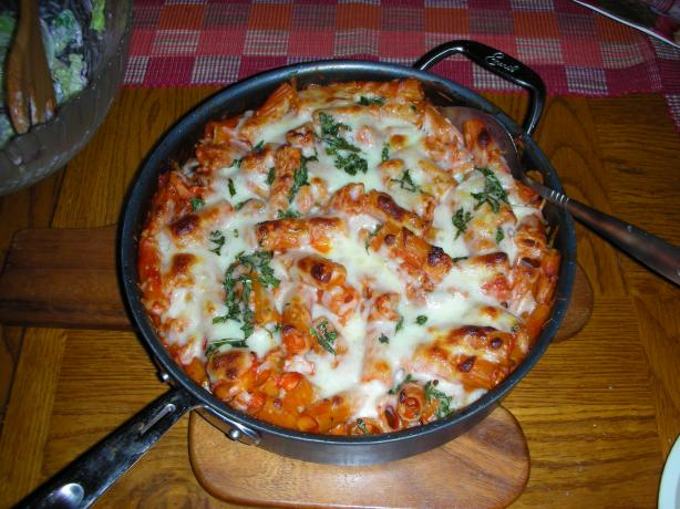 America's Test Kitchen Skillet Baked Ziti. Photo by JackieOhNo!