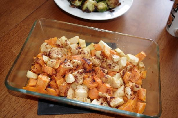 Showbizz's 20-Minute Sweet Potatoes. Photo by morgainegeiser
