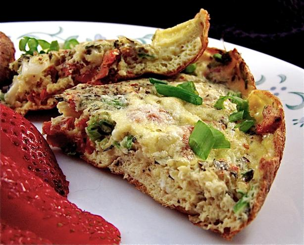Frittata With Sun-Dried Tomatoes. Photo by PaulaG