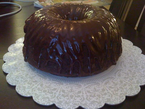 Chocolate Glaze for Cakes (That Hardens). Photo by TaterBug! :)