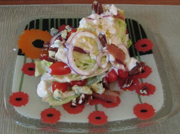 Lettuce Wedge Salad - Like Outback. Photo by BarbryT