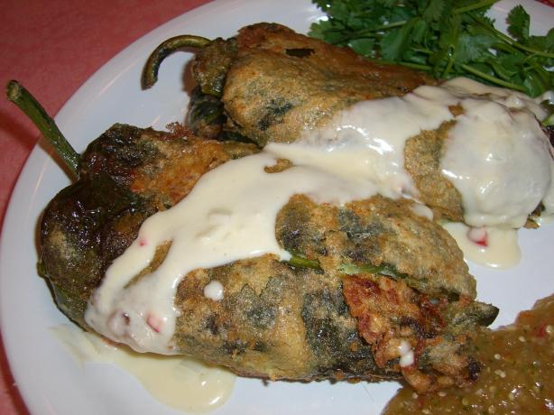 Chile Rellenos With Ground Pork and Tomatoes. Photo by Chef*Lee