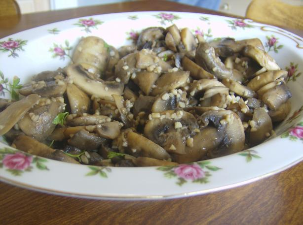 Sauteed  Mushrooms With Garlic. Photo by Marie Nixon