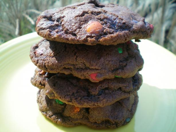 Chocolate Chocolate M&amp;m Cookies. Photo by CoffeeB