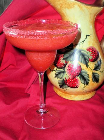 Frozen Strawberry Margaritas. Photo by Julie B's Hive