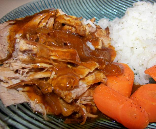 Couldn't Be Easier BBQ Pork Tenderloin (Crock Pot). Photo by Baby Kato