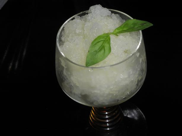 Basil and Lime Granita. Photo by TeresaS