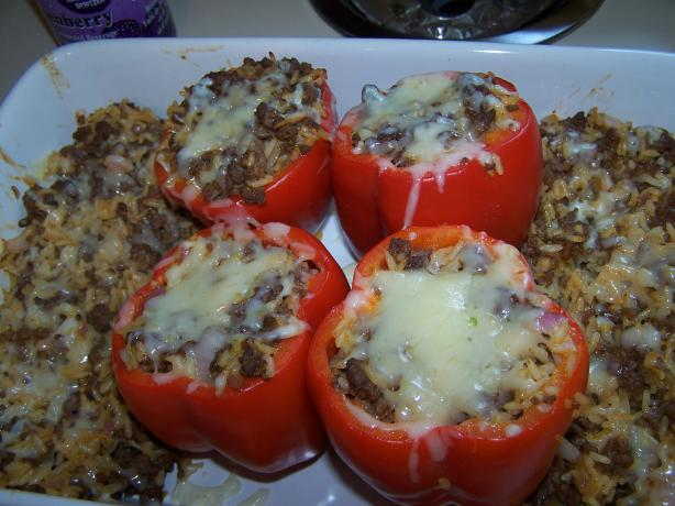 Nawlins-Style Stuffed Bell Peppers. Photo by Tabby Bartley