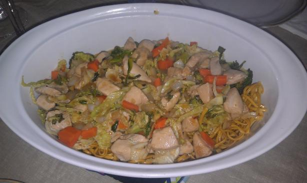 Chinese Take-Out Chicken Chow Mein With Crispy Noodles. Photo by KateColucci