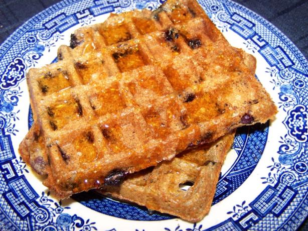 Blueberry Whole Grain and Bran Waffles. Photo by Bobbiann