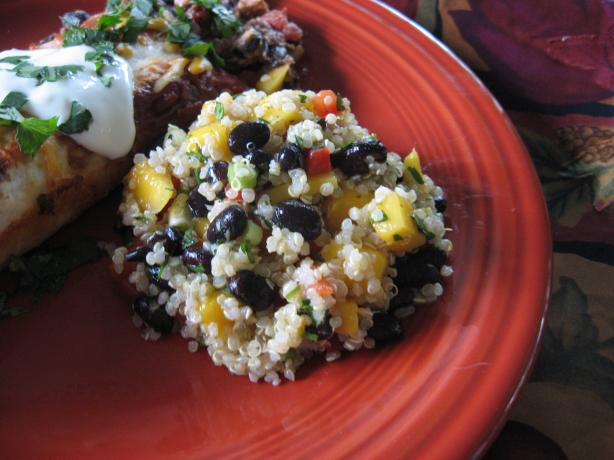 Quinoa Salad With Black Beans and Mango. Photo by averybird
