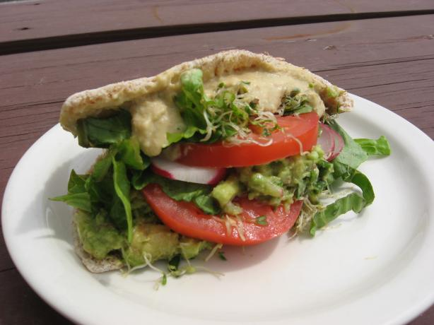 Avocado Hummus Pita. Photo by averybird