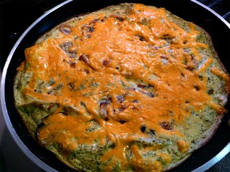 Onion, Garlic and Basil Frittata. Photo by Mikekey
