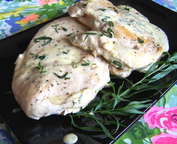 Chicken Breasts With Fresh Tarragon- Dijon Mustard Pan Sauce. Photo by Rita~
