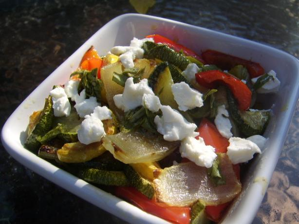 Grilled Vegetable Salad With Goat Cheese. Photo by LifeIsGood