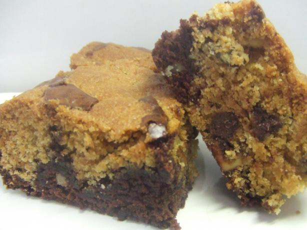 Quick and Easy Chocolate Chip Cookie Dough Brownies. Photo by Vseward (Chef~V)