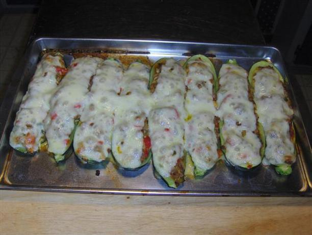 Drop Dead Delicious Stuffed Zucchini. Photo by Chef #518237