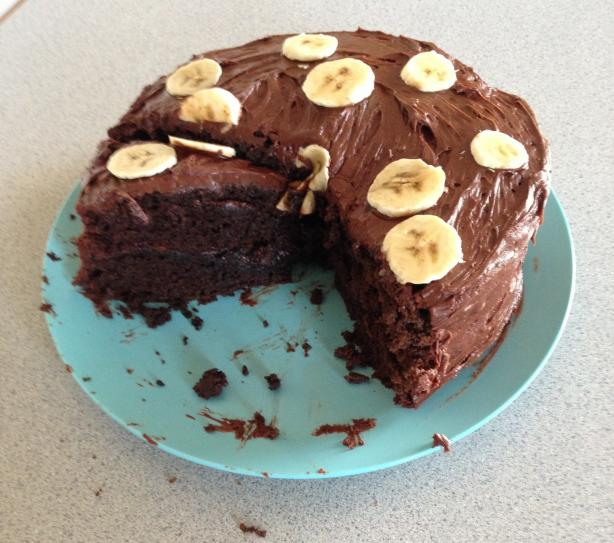 Chocolate Banana Cake. Photo by Marleemw