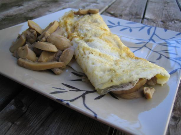 Mushroom Omelette for One. Photo by brokenburner