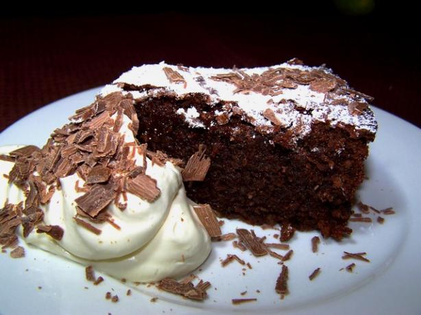 Almond Chocolate Cake (No Flour). Photo by **Jubes**
