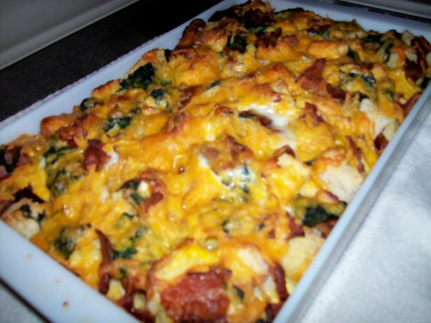 Overnight Brunch Casserole. Photo by CindiJ