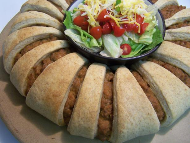 Homemade Taco Ring. Photo by Proud Veteran's wife