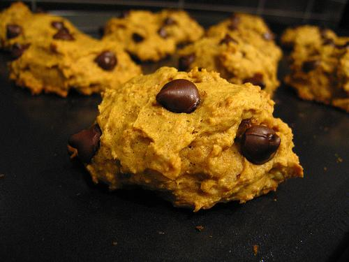 Easy Pumpkin Chocolate Chip Cookies. Photo by foodfairy