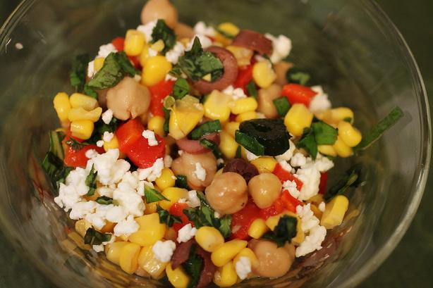 Mediterranean Corn Salad. Photo by DanaPNY
