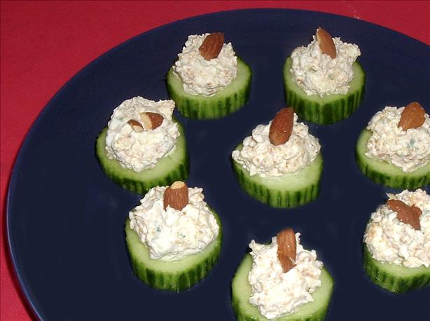 Stuffed Cucumber Cups. Photo by Bergy