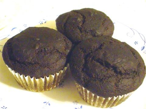 Chocolate Super Flax Cupcakes. Photo by tildeWonder