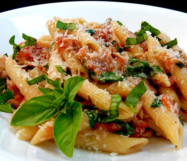 Creamy Tuna and Basil Penne. Photo by PaulaG