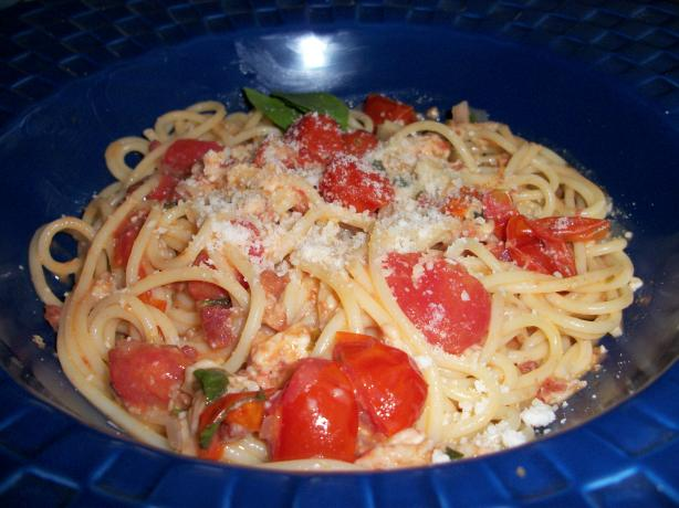 Cherry Tomato Spaghetti All'amatriciana - Rachael Ray. Photo by quirkycook
