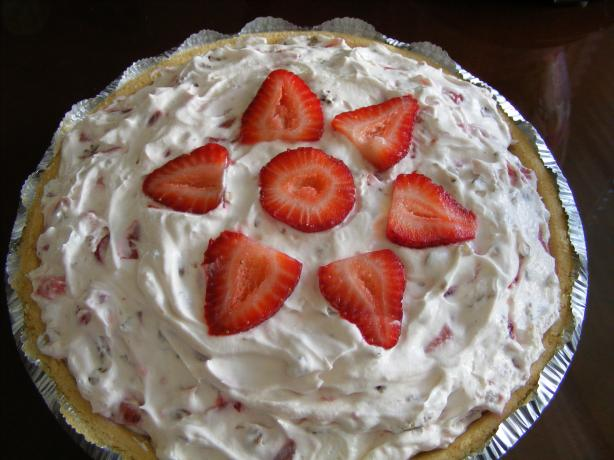 Strawberry Cream Pie. Photo by Seasoned Cook