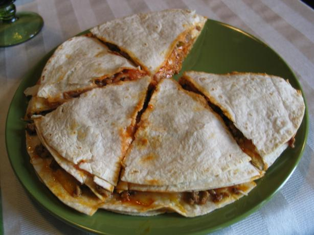 Penzey's Pizza Tortillas (Quesadillas). Photo by carolinajewel