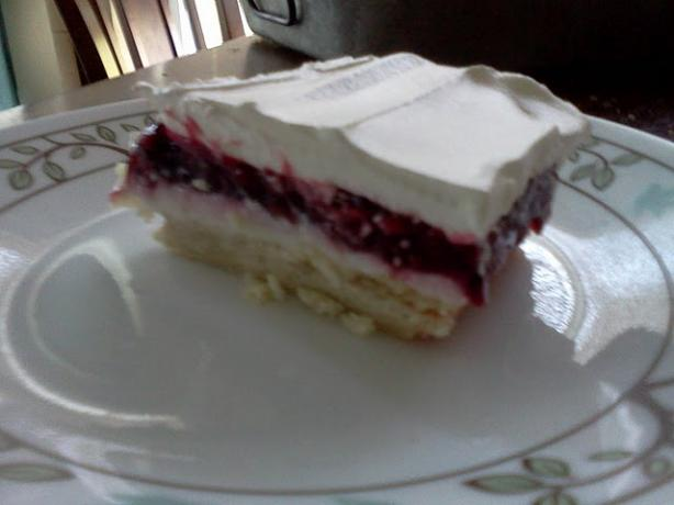 Blackberry Cream Cheese Dessert. Photo by Chef Heather