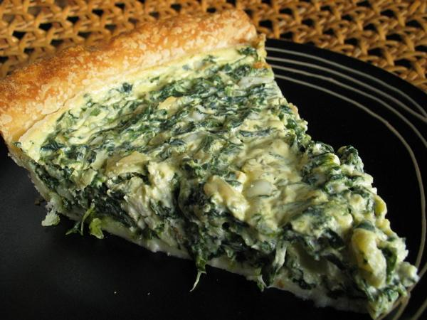 Tre's Spinach and Feta Cheese Quiche. Photo by flower7
