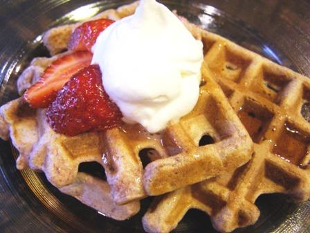 Good for You Strawberry Waffles. Photo by DuChick