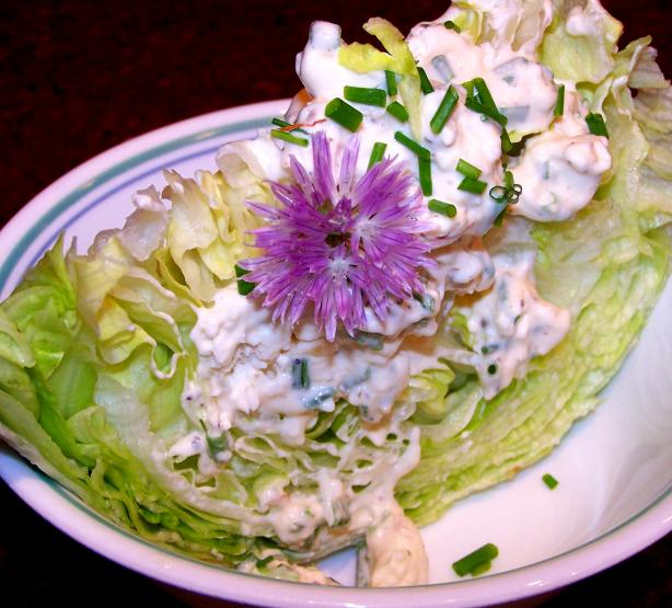 Iceberg Lettuce Wedges W/Creamy Blue Cheese Dressing. Photo by Rita~