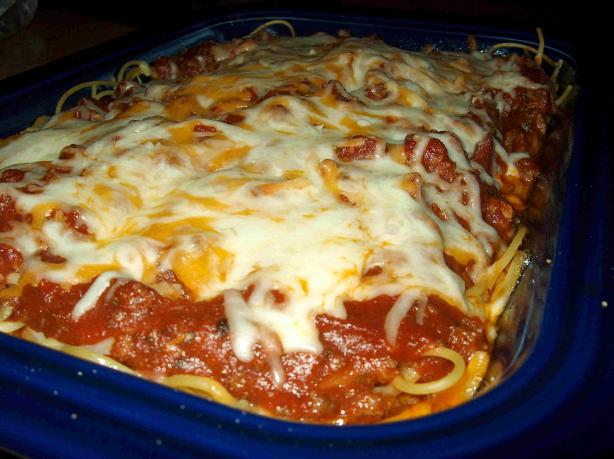 Classic Baked Spaghetti. Photo by Lainey6605
