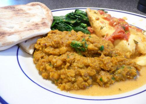 Curried Red Lentil Dahl. Photo by Mikekey