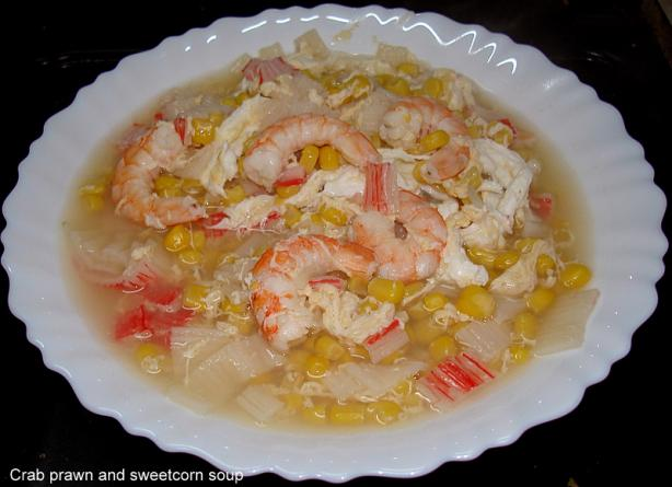Crab and Sweetcorn Soup. Photo by Brian Holley