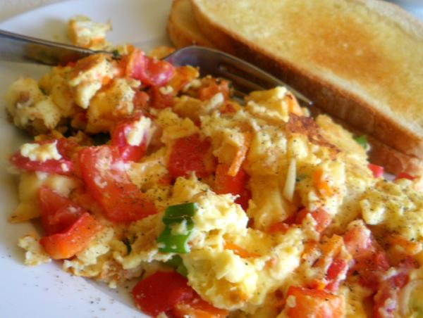 Scrambled Eggs With Vegetables. Photo by Bergy