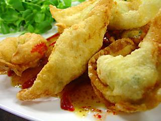 Chicken and Goat Cheese Wontons. Photo by LilPinkieJ