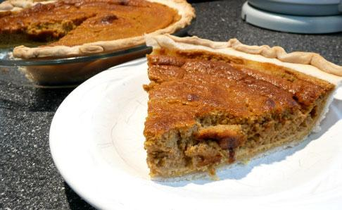 Orange Liqueur Pumpkin Pie. Photo by Mikekey