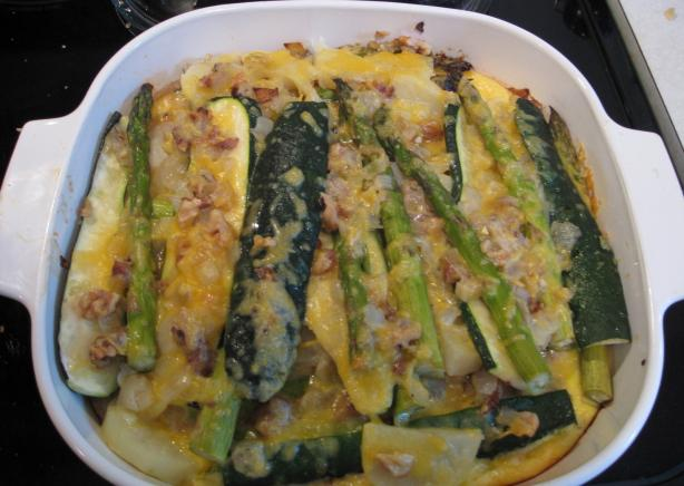 Asparagus & Zucchini Frittata. Photo by BarbryT