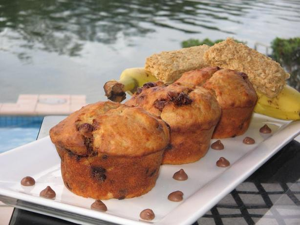 Banana Weet-Bix Choc Chip Muffins. Photo by The Flying Chef